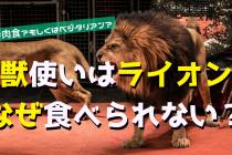 猛獣使いはなぜライオンに襲われないのか?食物連鎖からみる食の本質とは。